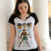 Camiseta Raglan Feminina Wonder Woman Fierce