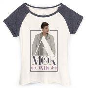 Camiseta Raglan Feminina Zé Felipe Amor é Só Contigo