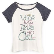 Camiseta Raglan Feminina Zé Felipe Você Me Leva Ao Céu