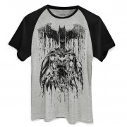 Camiseta Raglan Masculina Batman Melting Sketch