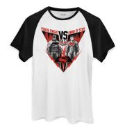 Camiseta Raglan Masculina Batman VS Superman Battle for Gotham City