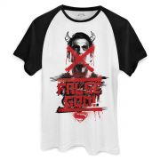 Camiseta Raglan Masculina Batman VS Superman Masked Manace