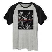 Camiseta Raglan Masculina Elvis Presley 68 Pics