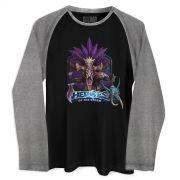 Camiseta Raglan Masculina Heroes Of The Storm Nazibu