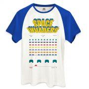 Camiseta Raglan Masculina Space Invaders Game