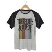 Camiseta Raglan Masculina The Beatles Jump