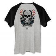 Camiseta Raglan Masculina Esquadrão Suicida Diablo