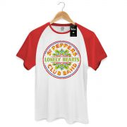 Camiseta Raglan Premium Masculina The Beatles Sgt Peppers Club Band