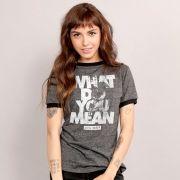 Camiseta Ringer Feminina Justin Bieber WDYM