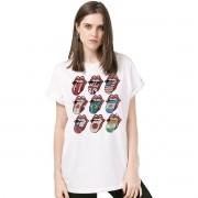 Camisetão Feminina The Rolling Stones Logos