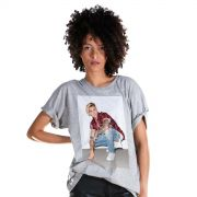 Camisetão Feminino Justin Bieber Flannel Photo
