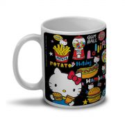 Caneca Hello Kitty Fast Food
