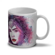 Caneca Wonder Woman Watercolor