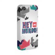 Capa para iPhone 4/4S Thiaguinho Hey Mundo! Logo