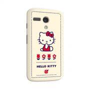 Capa para Motorola Moto G 1 Hello Kitty Flowers