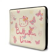 Capa para Notebook Hello Kitty Butterflies Dream