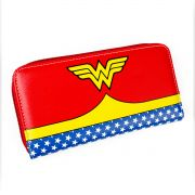 Carteira Feminina com Zíper Wonder Woman Clothes