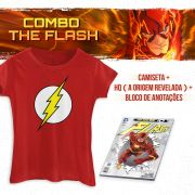 Combo Feminino The Flash Camiseta + HQ A Origem Revelada
