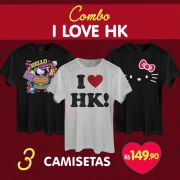 Combo Masculino Hello Kitty I Love HK