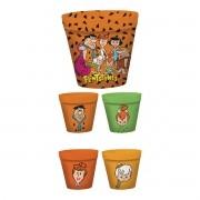 Kit Pipoca com 5 Potes HB Os Flintstones Personagens