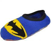 Meia Antiderrapante Infantil Cano Baixo Batman Logo