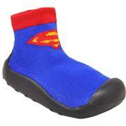 Meia Sapatilha Infantil Superman Logo