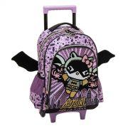 Mochila com Carrinho Hello Kitty Batgirl