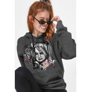 Moletom Feminino Harley Quinn Rose