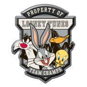 Placa de Parede Recortada Looney Tunes Time de Campeões