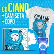 Combo Fresno CD Ciano + Copo + Camiseta Feminina