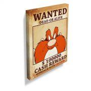 Quadro Looney Tunes Eufrazino Procurado