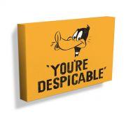Quadro Tela Looney Tunes Patolino Você é Desprezível