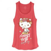 Regata Premium Feminina Hello Kitty Flowers Fest
