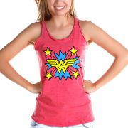 Regata Premium Feminina Wonder Woman Logo Star