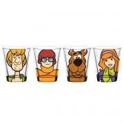 Set 4 Copos para Dose Scooby-Doo, Salsicha, Velma e Daphne
