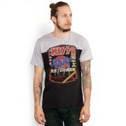 Camiseta Masculina Bicolor BDP Clothing Kiss Destroyer 78