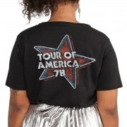 T-Shirt Feminina Flag The Rolling Stones Flag