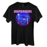 T-Shirt Feminina Supergirl Disco