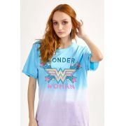 T-shirt Feminina Wonder Woman Logo Star
