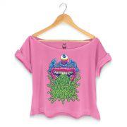 T-shirt Premium Feminina Monstra Maçã Puke