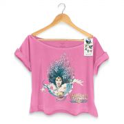 T-shirt Premium Feminina Wonder Woman Flowers