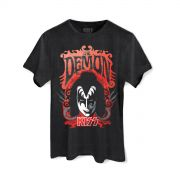T-shirt Premium Masculina Kiss The Demon