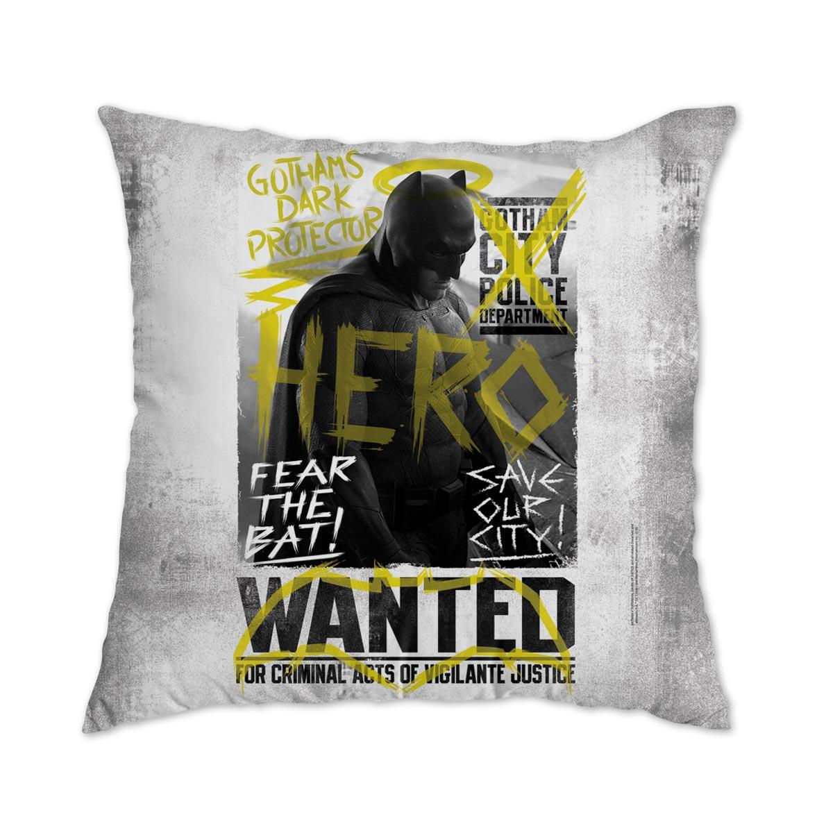 Almofada Batman VS Superman Hero Wanted