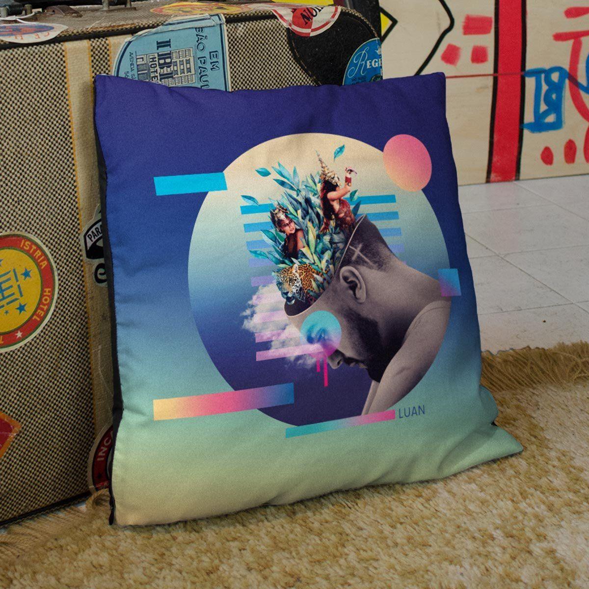 Almofada de Tecido Luan Santana Check-In