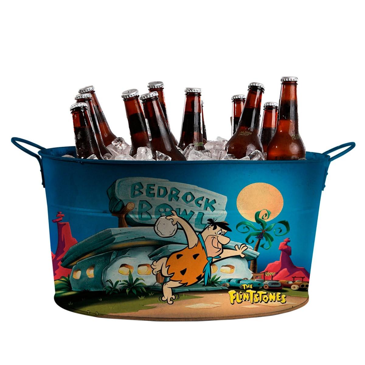 Balde de Gelo Metal Oval Os Flintstones Fred Bowling
