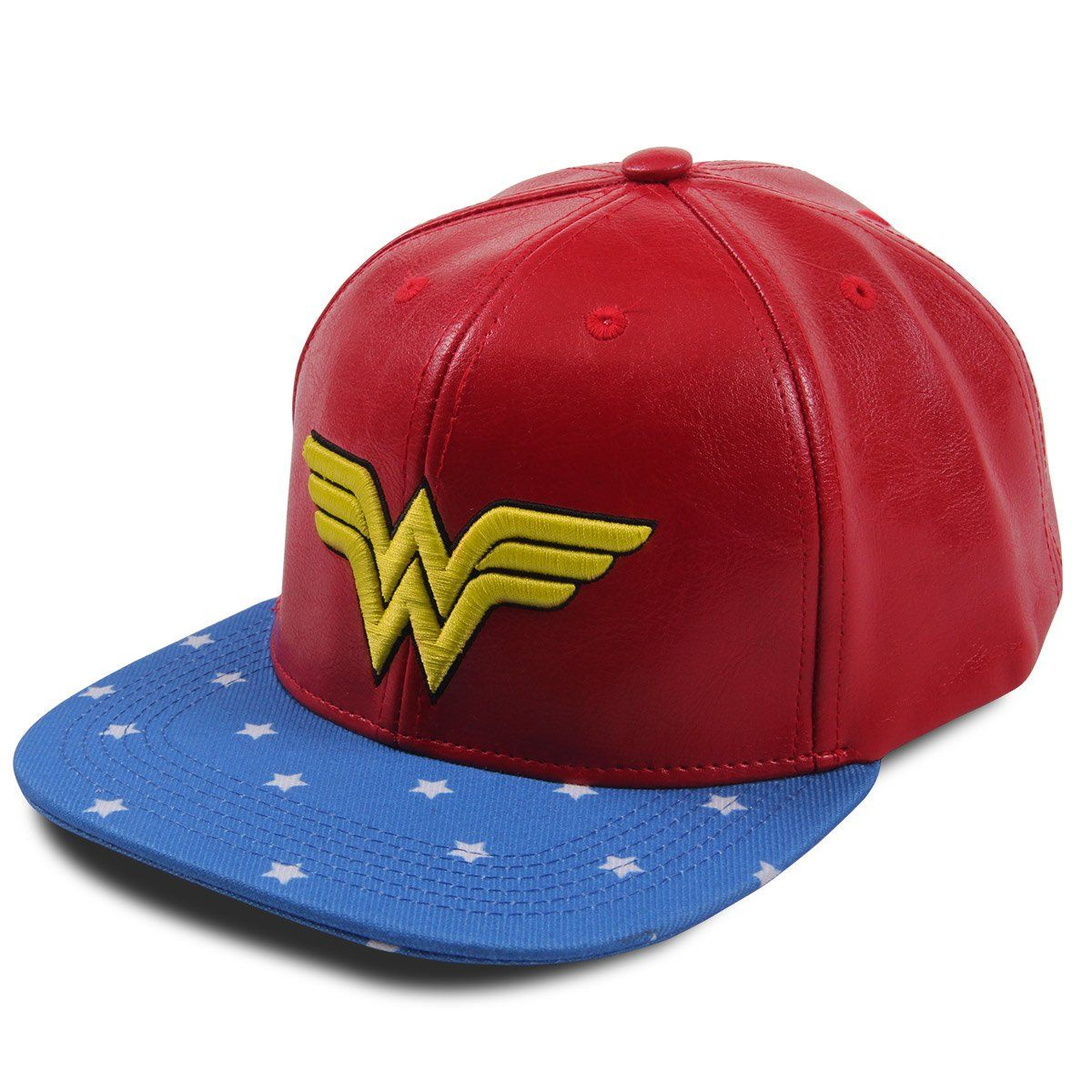 Boné de Couro Wonder Woman