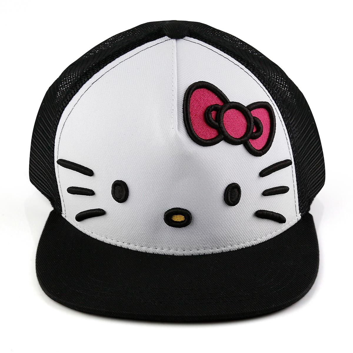 Boné Snapback Hello Kitty White