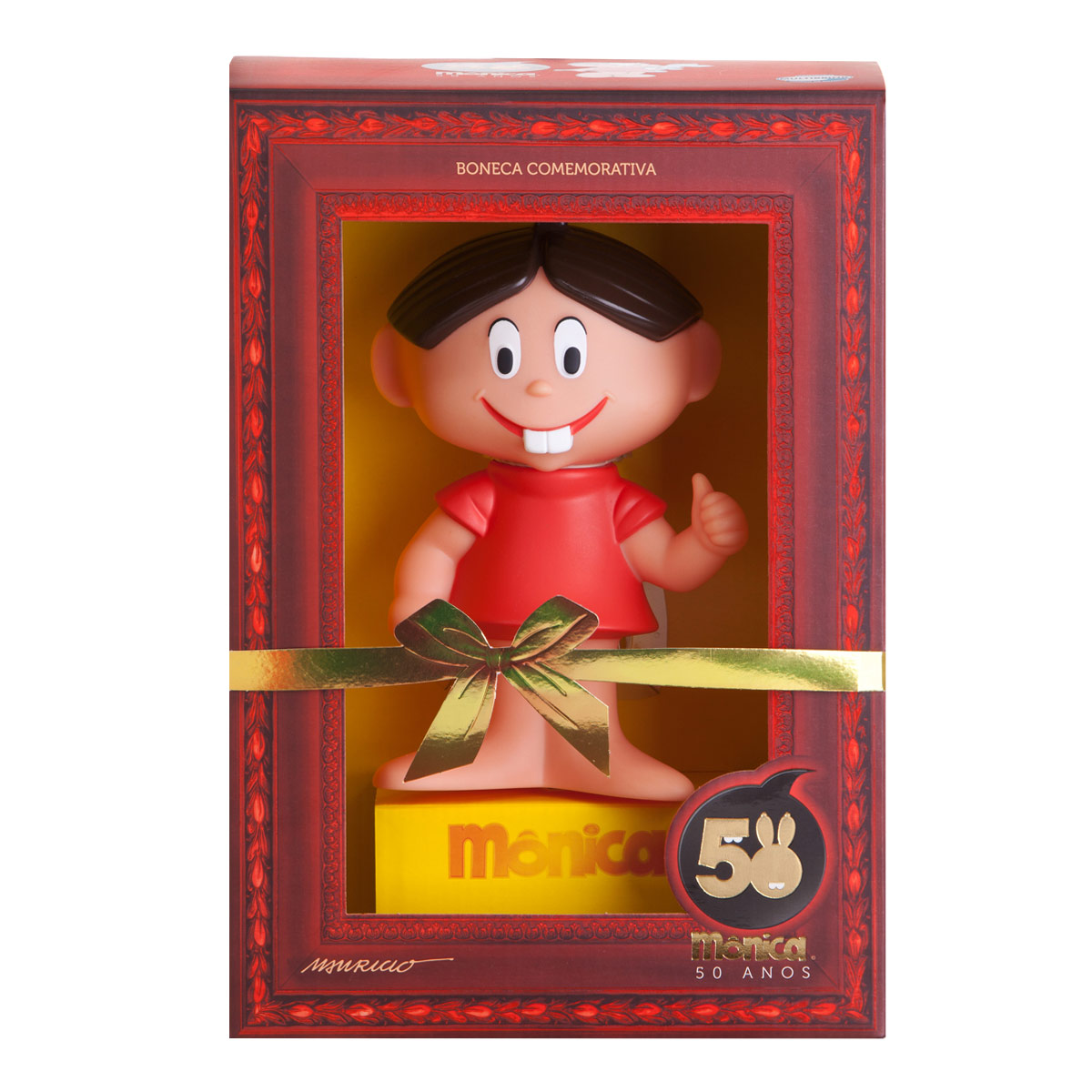 Boneco Turma da Mônica Mônica 50 Anos
