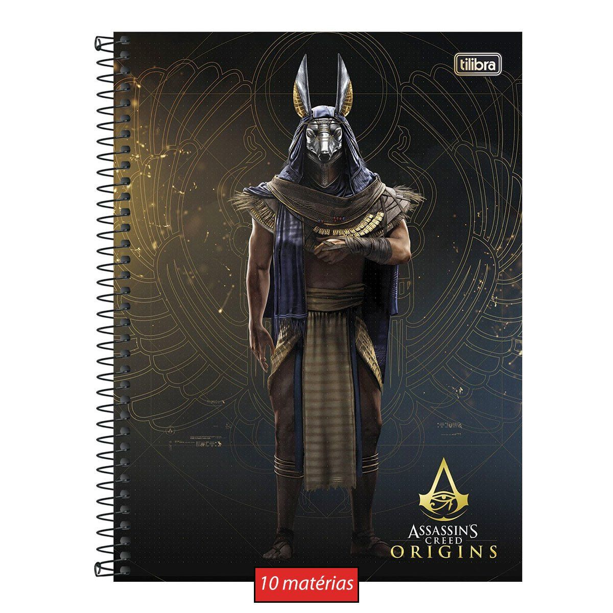 Caderno Assassin's Creed Annubis 10 Matérias