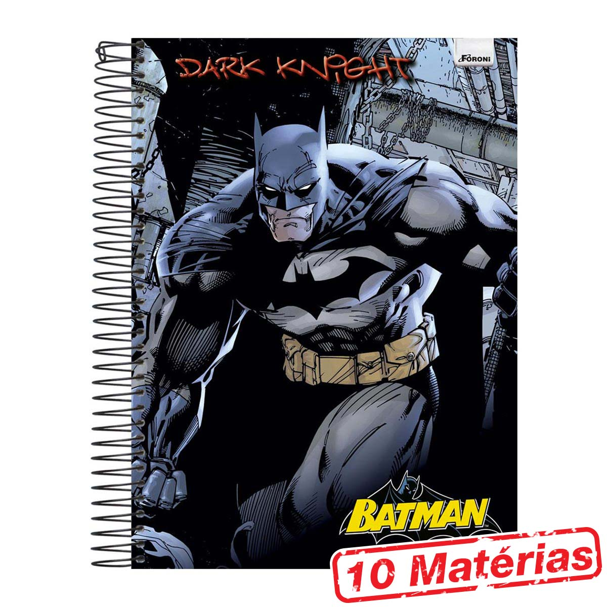 Caderno 10 Matérias Batman Dark Knight